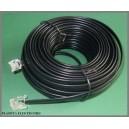 Kabel 6p4c do NEOSTRADY TELEFONU czarny 20m