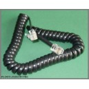 Kabel spiralny słuchawka - telefon RJ9 4p4c