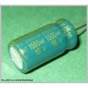 Kondensator LOW ESR 1500uF 16V kpl 10szt