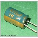 Kondensator LOW ESR 470uF 16V komplet 10szt
