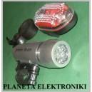 Lampka Lampa ROWEROWA 10 LED Przód+Tył