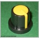 Gałka do potencjometru obrot żółta 17,5mm