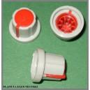 Gałka do potencjometru obrot. czerwona 17,5mm