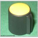 Gałka do potencjometru obrot żółta 13mm
