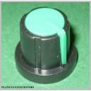 Gałka do potencjometru obrot zielona 17,5mm
