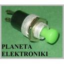 Przełącznik zwierny chwilowy zielony 10szt