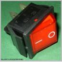 Przełącznik podświetlany CZERWONY 12V 35A