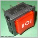 Przełącznik podświetl duży czerwony 12V 3poz