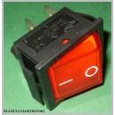 Przełącznik podświetlany duży czerwony 250V