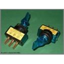 Przełącznik podświet lizak 12V niebieski