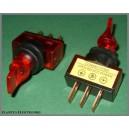 Przełącznik podświetl lizak 12V czerwony