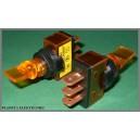 Przełącznik podświet lizak 12V żółty