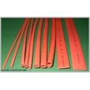 Czerwone RURKI Termokurczliwe 1,5 -10mm 10rdz