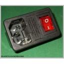Wtyk sieciowy AC 3pin przełącznik gn bezpiec