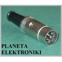 Wtyk DIN 6pin 6p metal na kabel (1140)