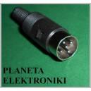 Wtyk DIN 5pin (590) na kabel (1137)