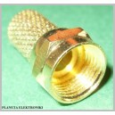 Wtyk F na RG6 złoty 18mm gold 10szt