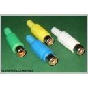 Gniazdo RCA cinch MIX kolorów 20szt