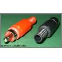 Wtyk RCA cinch na kabel KPL 10szt