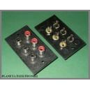 Gniazdo RCA 3x2 cinch montażowe