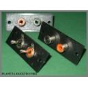 Gniazdo RCA podwójne do obudowy KPL 10szt