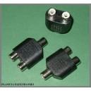 Adapter gniazdo RCA ( cinch ) / 2gniazda RCA