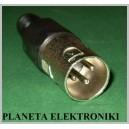 CZARNY wtyk mikrofonowy XLR 3pin 3p na kabel