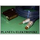 Kabel PC-TV EURO - jack 3,5 stereo + SVHS 5m