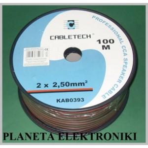 Przewód kabel głośnikowy 2x 2,5mm NA METRY