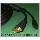 Kabel DVI - HDMI z filtrem 10m Gold