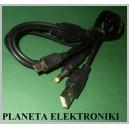 Kabel do PSP zasilanie transmisja 1,1m