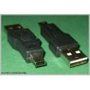 Adapter przejście wtyk mini USB 5p / wt USB
