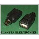 Przejście gniazdo USB -wt PS2 Mysz Klawiatura