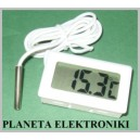 Biały TERMOMETR Samochodowy CYFROWY LCD -50 do 100(2095a)