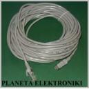 Kabel sieciowy LAN skrętka wtyki RJ45 15m