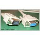 Kabel przedłużacz do monitora SVGA wt/gn 1,8m