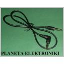Kabel wtyk mały jack 3,5 /wt 3,5 st kąt 0,5m