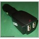 ŁADOWARKA SAMOCHODOWA zapalniczki 2 gn USB