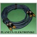 Profesjonalny kabel 2x RCA ( cinch )- 2xRCA 1,5m