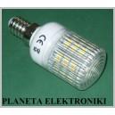 ŻARÓWKA 48 LED 3W SMD E14 / 230V białe ciepłe