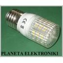 ŻARÓWKA 48 LED 3W SMD E27 / 230V białe ciepłe