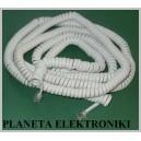 Biały sznur słuchawka - telefon 15m RJ9 4p4c