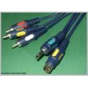 Kabel PC - TV SVHS + jack 3,5 / 3x RCA 2,5m