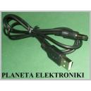 Kabel wtyk USB / wtyk DC 2,1 / 5,5 __ 1m