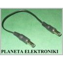 Kabel Łącznik wtyk DC 2,1 / 5,5 podwójny 20cm