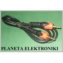 Kabel 2x wtyk mały Jack 3,5 stereo 1m Campari