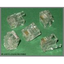 Wtyk wtyczki wtyki RJ11 6p4c złocone 1000szt