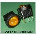 Przełącznik podświetl okrągły 250V żółty