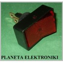Przełącznik podświetlany ASW11D czerwony
