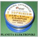 Spoiwo CYNA 0,5mm z topnikiem 100g 0,1kg